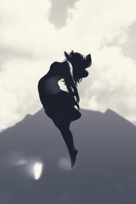 danseuse dans les airs